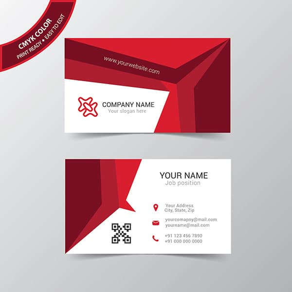 Abstract vector business card template