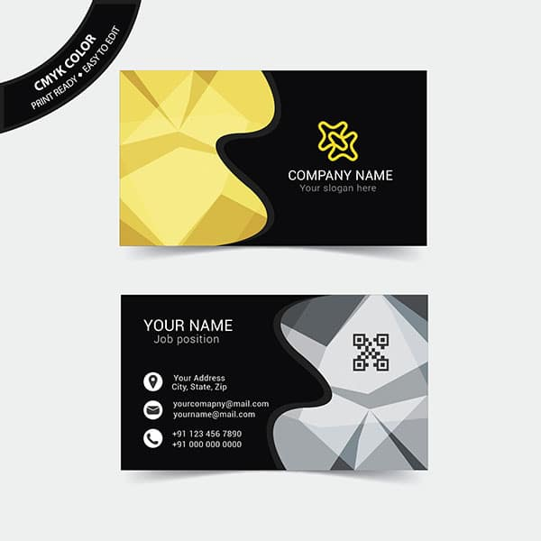 Free abstract business card
