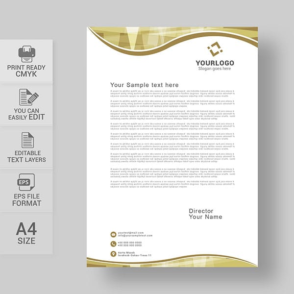 Abstract business letterhead