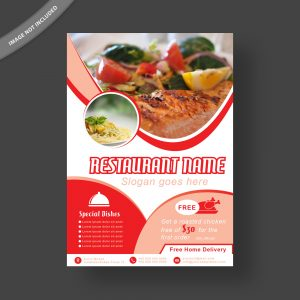 restaurant; flyer; template; design; food