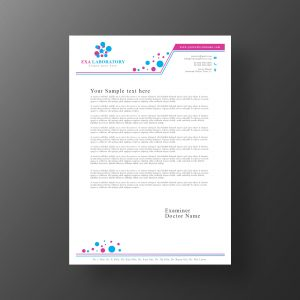 Medical laboratory letterhead