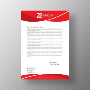 letterhead; design; template; vector; company; creative; business; red