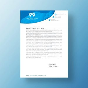 letterhead, business, company, vector, template, abstract