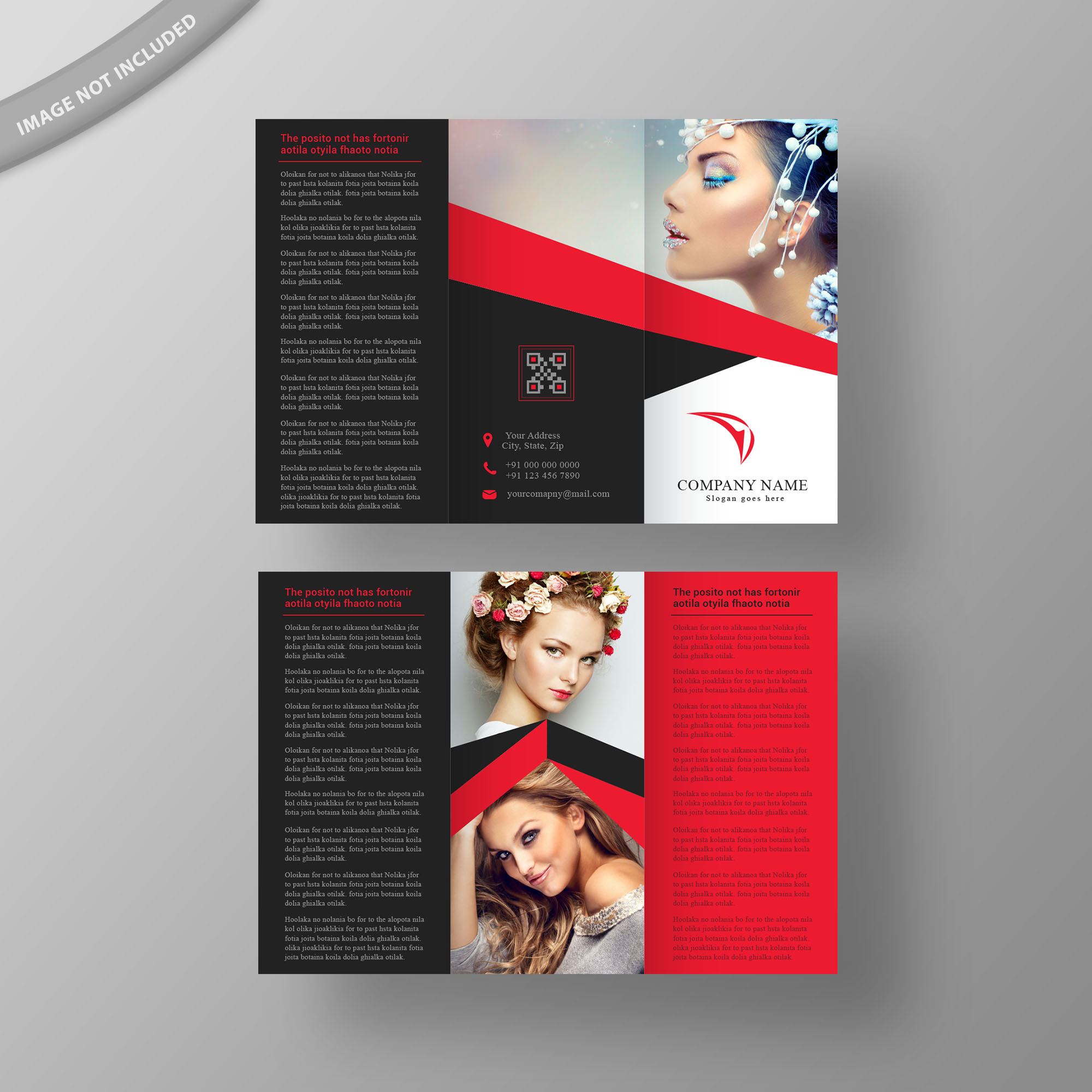 fashion brochure templates - flyers business cards letterheads tri fold