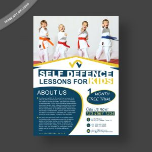 Kids self defense flyer template