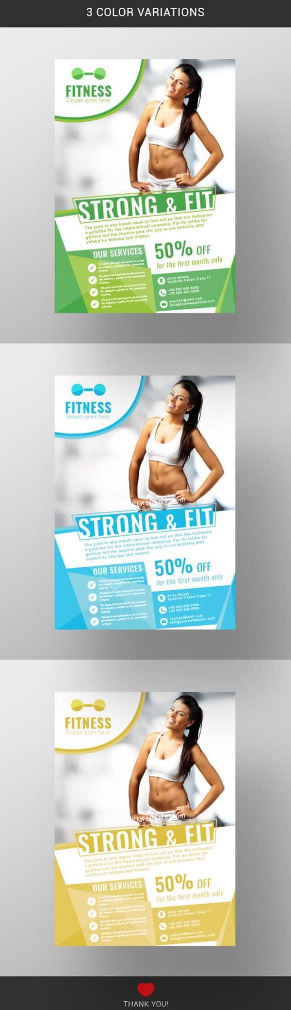Fitness Flyer Template Free Download Wisxi
