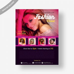 fashion, flyer, template, design, event, poster