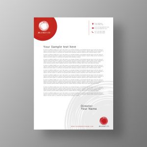 letterhead, template, design, personal, business, company