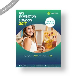 art, exhibition, flyer, design, poster, template