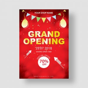 flyer; design; grand opening; poster; templlate