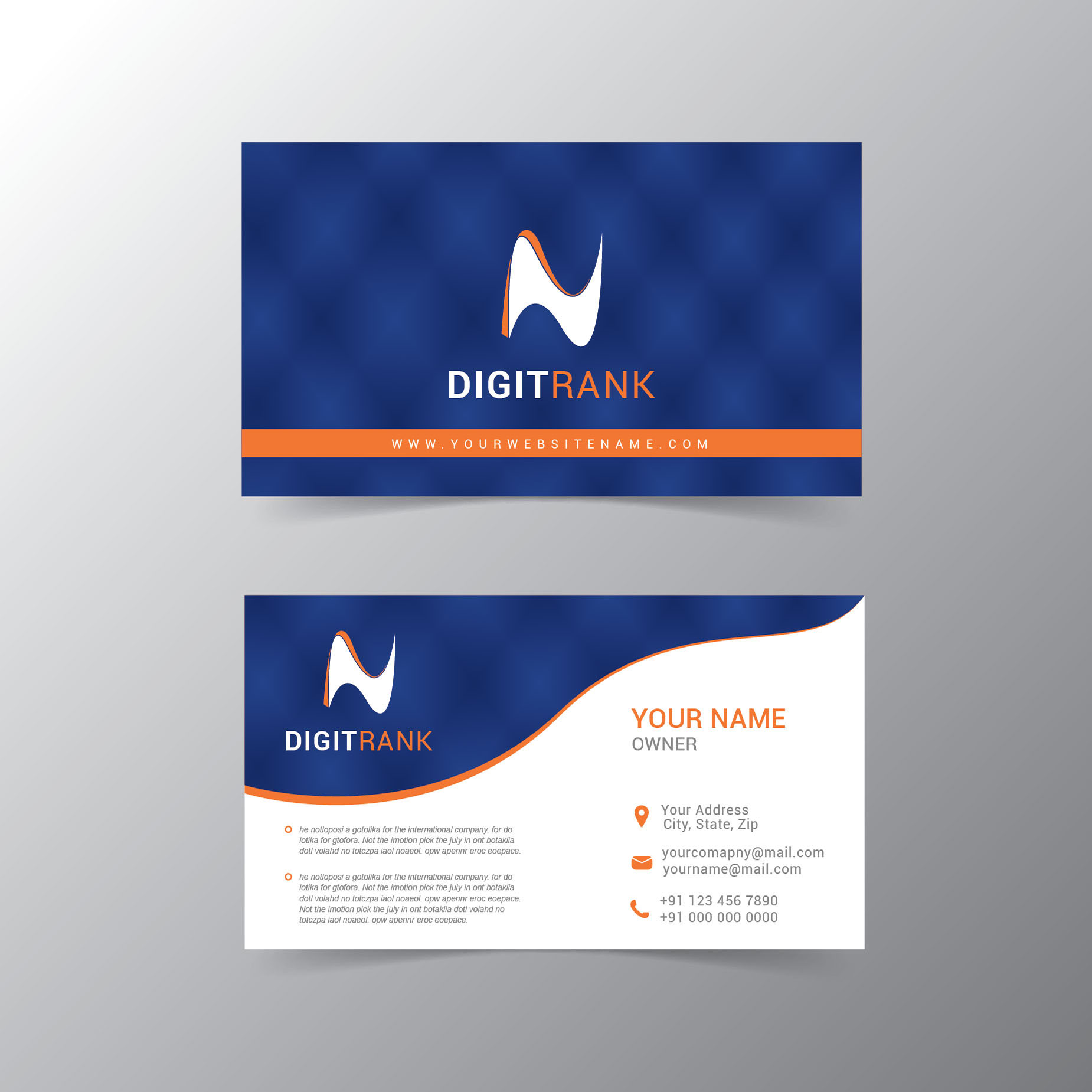 Modern business card design free download wisxi modern business card design template company abstract reheart Choice Image