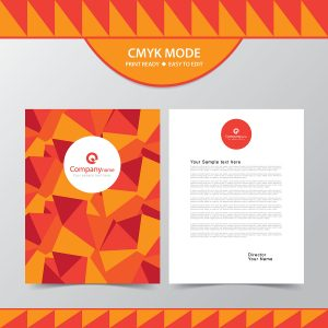 company, letterhead, design, business, vector, free vector