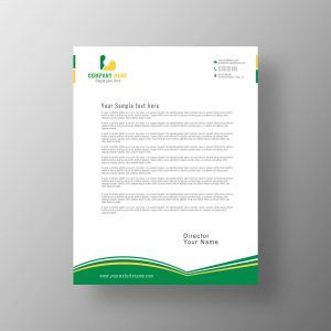 creative, letterhead, design, corporate, vector, template