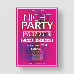 party; flyer; design; template; creative; night party; poster
