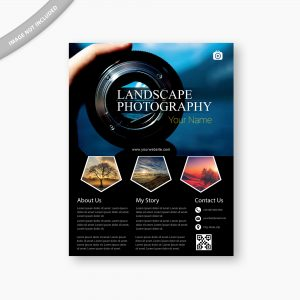 photography flyer, design, flyer template, landscape photography