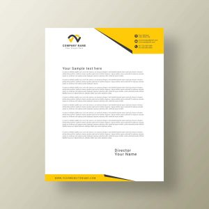 letterhead, design, modern, company, business