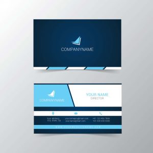 Visiting card sample