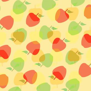 apple, pattern, background, design, template, decoration