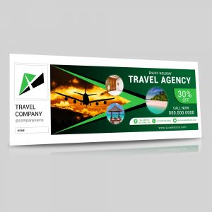 Facebook cover, travel agency, cover photo, template, design