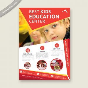 education, flyer, design, template, kids, school