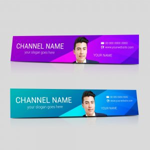 YouTube banner, Banner, design, template, channel art, YouTube channel