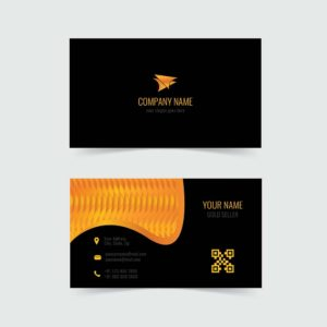 gold, business card, template, vector, free, design
