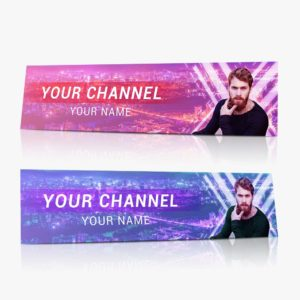 YouTube, channel, banner, art, design, template