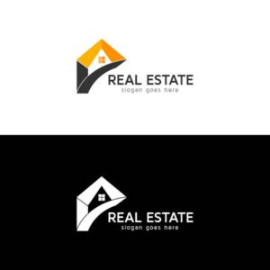 real estate, logo, design, template, vector, home, company
