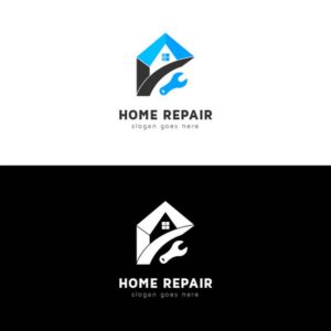 home, repair, logo, design, service, company, vector