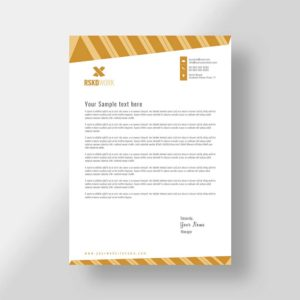 letterhead, construction, company, vector, template, design, modern