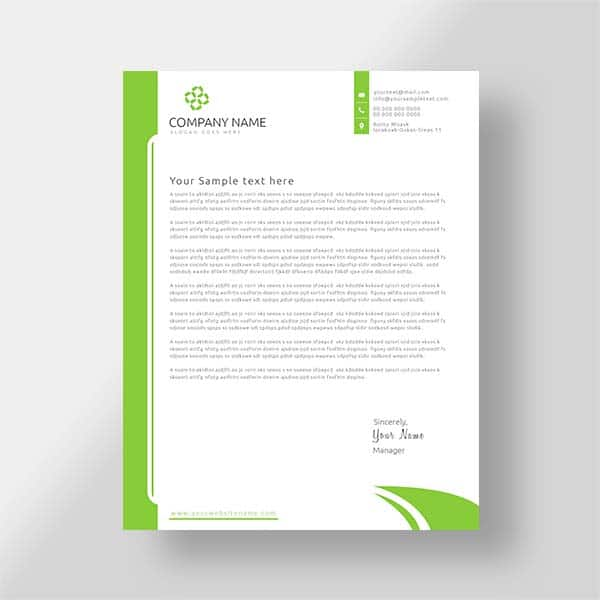 Custom business letterhead, vector, free letterhead, print templates