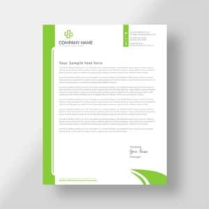 Custom business letterhead