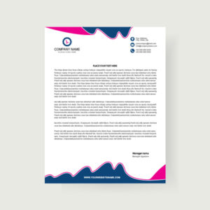 simple, letterhead, design, template, modern, business