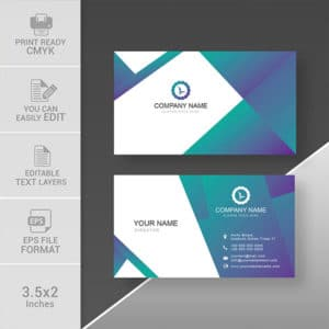 Modern professional business card