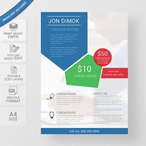 Content writers flyer template