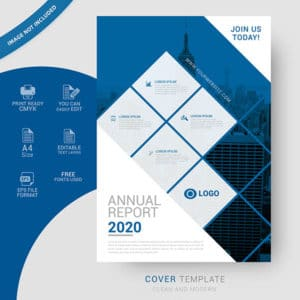 annual, 2019, cover, design, free, vector, business