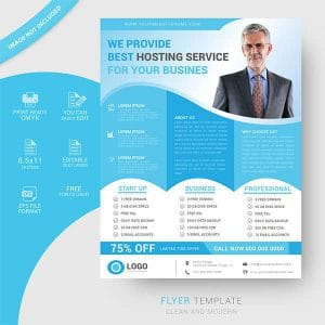 Web services flyer template