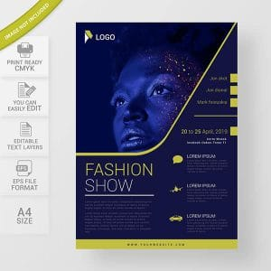 Flyer design fashion show