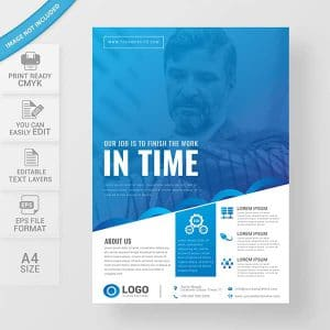 Professional business flyer vector