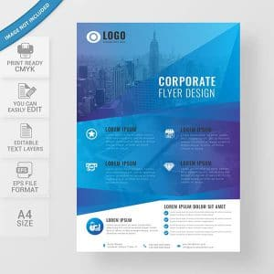 business flyer, templates, design, modern, corporate, creative, blue