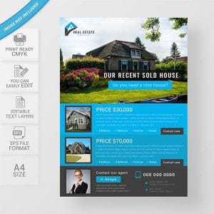 real estate, flyer design, free download, template, house sell, advertise