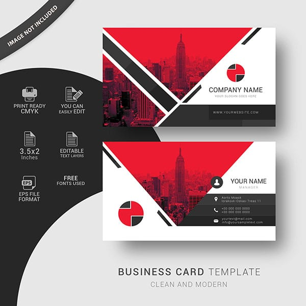 Professional business cards template