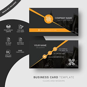 corporate, clean, business card, template, modern, editable, free vector