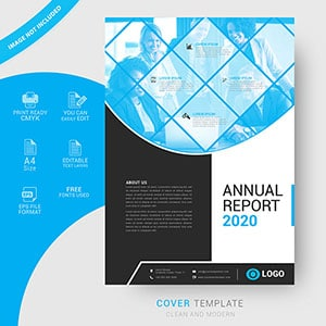 Modern annual report cover design