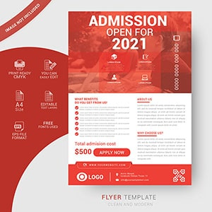 admission, flyer, template, vector, graphic design, education