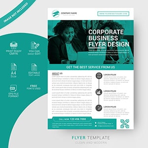 business, flyer, design, template, modern, design, free vector