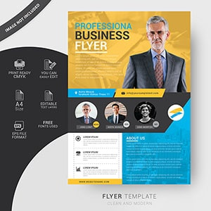 Clean corporate business flyer