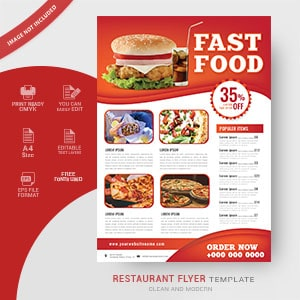 restaurant, flyer, design, fast food, food, poster