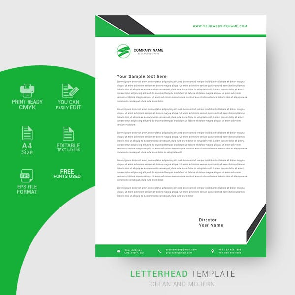 Creative letterhead design template