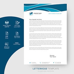 letterhead, template, business, modern, corporate, design, vector